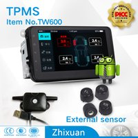 audi navigation for sale - hot sale tpms factory car tyre pressure monitoring system with external sensors USB connect android car DVD navigation test tire states
