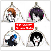 american jeff - New Creepy Pasta Ticci Toby Necklace Jeff And Jane The Killer Pendant Glass Cabochon Jewelry For Man Drop Shipping NS091