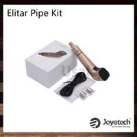 Wholesale Joyetech Elitar Pipe Kit W Elitar Mod ml Elitar Atomizer Firmware Upgradable Innovative Leak Resistant Cup Design Original