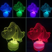 Wholesale 3D Optical Illusions Lamps New Arrival Night Light LED Colors Changing For Family Holiday Gift Home Office Childrenroom kx