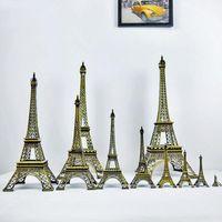 Cadeaux Créatifs 13cm Métal Art Artisanat Paris Tour Eiffel Modèle Figurine Zinc Alliage Statue Voyage Souvenirs Home Decor