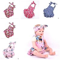Wholesale Romper for Baby Cotton Jumpsuit Ruffled Floral Baby Romper kids Photp Props Baby Birthday Gifts Rompers Costumes Styles