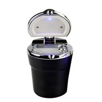 Wholesale SZS Hot Portable Auto Car Smokeless Stand Cylinder Cup Holder Cigarette Ashtray Black