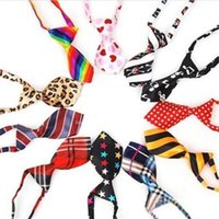Wholesale New Colorful Handmade Adjustable Dog Ties Pet Bow Ties Cat Neckties Grooming Supplies p12