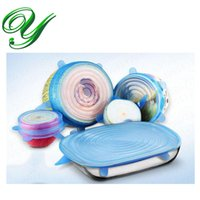 Wholesale Silicone Bowl Vacuum Suction Cover sizes sealing stretch lid spill stopper keep food fresh preserve universal cover for pots pans mugs FDA