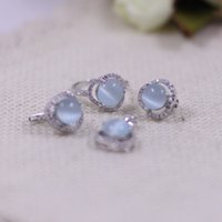 Wholesale Thai silver S925 sterling silver jewelry Opal Pendant Earrings Jewelry Set Ladies Ring Jewelry and retail