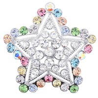 Wholesale 100pcs a fashion Multicolor Star Crystal Pin Brooch x inches