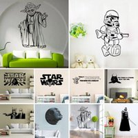 Wholesale Free DHl mixed order Star Wars Yoda Death star Charature Wall Stickers Decals Wall Art wallpaper Poster