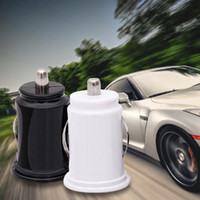 Wholesale Good Quality V A Car Charger Power Adapter Dual USB Port Mini Car Cigarette Lighter Socket Charger black white