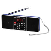 Wholesale Radio Portable Digital LCD FM Radio Stereo Audio Speaker MP3 Music Player USB AUX TF HIGH QUALITY JAN4