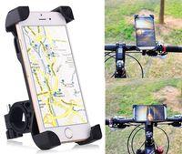 bicycle handlebar mounts - 360 Universal Motorcycle Bike Bicycle Handlebar Mount Holder For Smartphone GPS Devices Iphone Samsung HTC Xiaomi Huawei LG