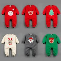 baby sweater patterns - 2016 Winter Infant Baby Christmas Romper Coat Long Sleeve Santa Jumpsuit Sweaters Boys Girls Clothing Elk Santa Claus Chrismas Tree pattern