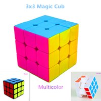 Wholesale HOT sale YONGJUN Magic Cube Professional x3 Stickerless Cube Puzzle Speed Classic Toys Learning Education For children
