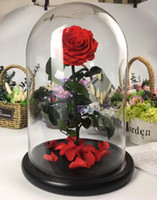 Wholesale Preserved Rose In Glass Dome Red Rose Flower For Gift Home Decoration Hot sale preserved flower from China