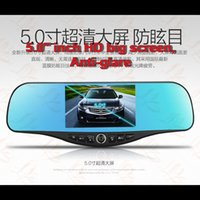 Wholesale Multifunction Car camcorder car navigation touch screen android system night version dual cameras wifi Bluetooth telephone FM