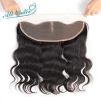 Wholesale Brazilian Body Wave Lace Frontal Closure Middle Free part Option Virgin Human Hair Ear to Ear Lace Frontal