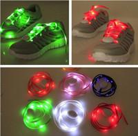 Wholesale 7th Gen LED Light Nylon Flat Luminous Glowing Flash Flashing Shoelaces Shoe laces Lace Shoelace