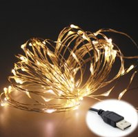 Wholesale DC V Leds Copper Wire USB Christmas LED Lighting String Fairy Lights for New Year Home Decor Lamps Waterproof Ornaments Lamp