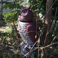 Wholesale ZILIN factory outlet plastic garden owl decoy rotating head owl decoy bird scaring owl decoy owl decoy with wind action head