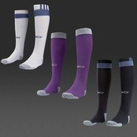 Wholesale Madrid home white away purple third rd black soccer socks football calcetines calze meias chaussettes Socken champions league
