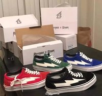 Wholesale REVENGE x STORM KANYE black green blue red men women Lightning Casual shoes The younger brother Men and women with Free delivery box