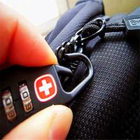 Wholesale-Bag verrouillage noir mot de passe serrures Mini sécurité bagage extérieur Bagagerie sac de golf porte-clés boîte # XTJ