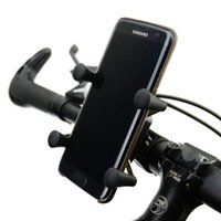 Wholesale New Version Universal Rotating Degrees X Grip Clamp Mount Bike Bicycle Phone Holder For CellPhone BH005