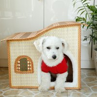 bamboo and rattan - 2016 Most New Pattern Bamboo Weaving Rattan Plaited Articles Willowerwork Springsummerautumn And Winter Four Seasons Small sized Dog Pets Ho