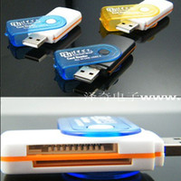 Wholesale USB rotating Card Reader for SD TF MS micro M2 MicroSD MS Duo Cards