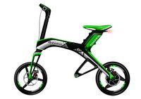 Wholesale Solarstars Robstep X1 Electric Bicycle Foldable Bluetooth Support Ah Lith on Batery City Transportation Cycling Portable Bike Green