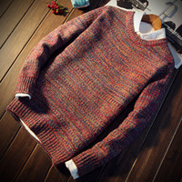 Wholesale 2016 New Autumn Fashion Brand Men Sweaters Pullovers Knitting Thick Warm Designer Slim Fit Casual Knitted Man Knitwear Round neck