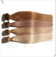 "Wholesale Cheap Keratin - Cheap Hair"" Keratin U Tip Human Hair Extension Straight 0.5g Strand Packaging 50g lot Crochet Brazilian Virgin Hair Extension For Sale"