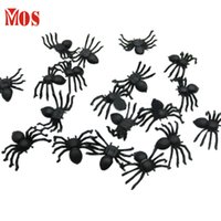 ag toys - AG Mosunx Business Hot Selling PC Halloween Plastic Black Spider Joking Toys Decoration Realistic