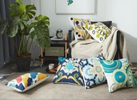 Wholesale New arrival Classical luxury square cushion with Bohemian style crocheting cotton cm