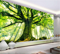 anti sunshine - d wallpaper custom mural non woven Wall stickers tree forest setting wall is sunshine paintings photo d wall mural wallpaper