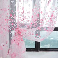 Wholesale 1Pcs Sheer Curtains For Living Room Windows Tulle Curtains For The Bedroom Home Decor Draperies Drapes Lace Organza Tulle Curtain