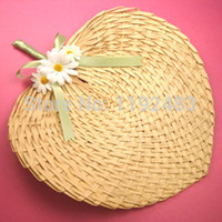 Wholesale 10pcs Wedding Favors and Gifts Mariage Casamento Decoration Hand Fans Wedding Decoration beach wedding fan