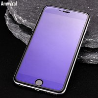 Para iphone7 Plus iphone 7 6S Plus Protector de pantalla de vidrio templado Anti-Violet Azul Luz Explosión Prueba de pantalla de vidrio de alta calidad de la película