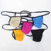 al por mayor medias de nylon japonés-Nueva ropa interior micro G3445 de las correas Thongs del Mens Pequeño spandex de nylon del nilón de la cobertura del límite de la bolsa del estilo japonés