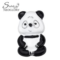 China-Tibet Women's Party Neoglory Cute Small Animal Panda Pins And Brooches For Women Girls Fashion Vintage Jewelry Gifts New 2017