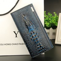 Wholesale Long Women Wallet YJY Fashion Zipper Alligator Change Purse Large Capacity Women Handbag Credit Card Holder Case Ladies Clutch Bag