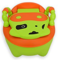 Wholesale Lovely cow ABS baby urinal kids children toilet potty seat chair for children training pc set