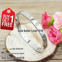 Wholesale Love Series Bracelets White Gold Stones New Version Love Style Bangles Fashion Jewelry Brand Women And Men With Box Set