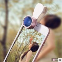 Wholesale 6 Colors Universal in Camera Len Kit X Super Wide Angle Lens X Macro Lens Clip On Cell Phone Lens for Smartphone CCA5542