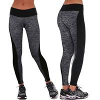 achat en gros de haute ga-Feitong 2016 femmes de la marque Pantalons Leggings Fitness Yo-ga haute taille élastique femmes Leggings Workout Leggins Pants