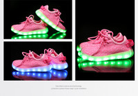 Les enfants illuminent les chaussures 350 Boost sneakers bébé Bottes Chaussures Led Running Sports lumineux Chaussures Botines Enfant Chaussures Casual Sneakers Training