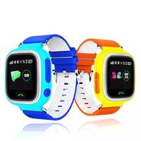 Niño Q90 pantalla táctil WIFI inteligente bebé reloj localizador de ubicación Dispositivo GPS Tracker reloj para niños Anti Lost Monitor PK Q80 Q60 Q50