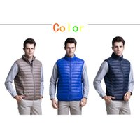 Wholesale Designer Mens Down Vest Down Wear Ultra Thin Light Down Jackets Warm Mens Outerwear for Winter