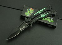 aluminum oxide color - Mad Zombie swinging knife HRC aluminum handle color box cr13blade oxide black surface pocket knife foldinig knife gift
