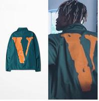 american windbreaker - Vlone Fashion Men Hip hop Windbreaker Thin Jackets Sportswear American Hot Skateboard Light Tracksuit Lover Coats